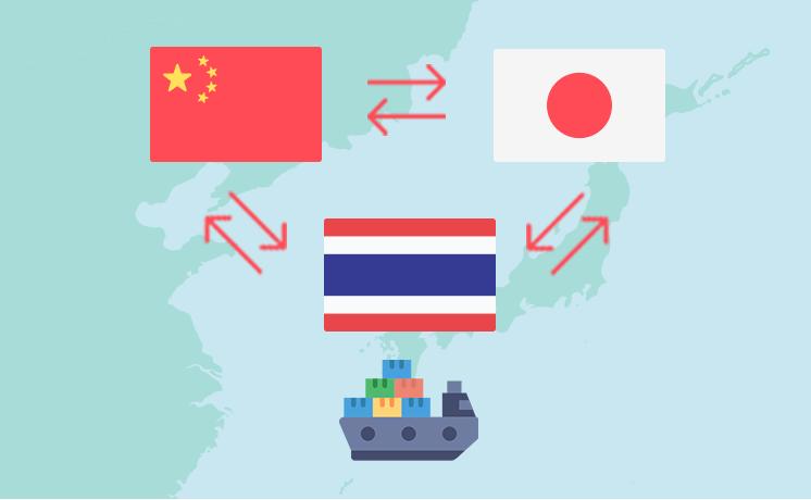 日中タイ間の化学品輸出入