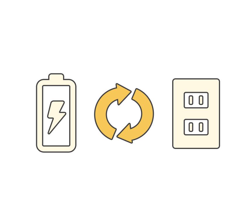 ACも単二電池も使用可能