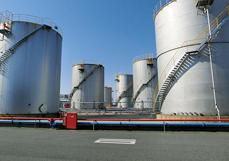 Stored in seaborne storage tanks